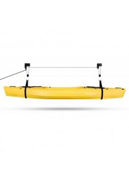 ce système Lift vous permet de stocker au plafond votre kayak ou votre canoë