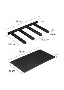 Mesure Rack vertical de rangement de planche de surf