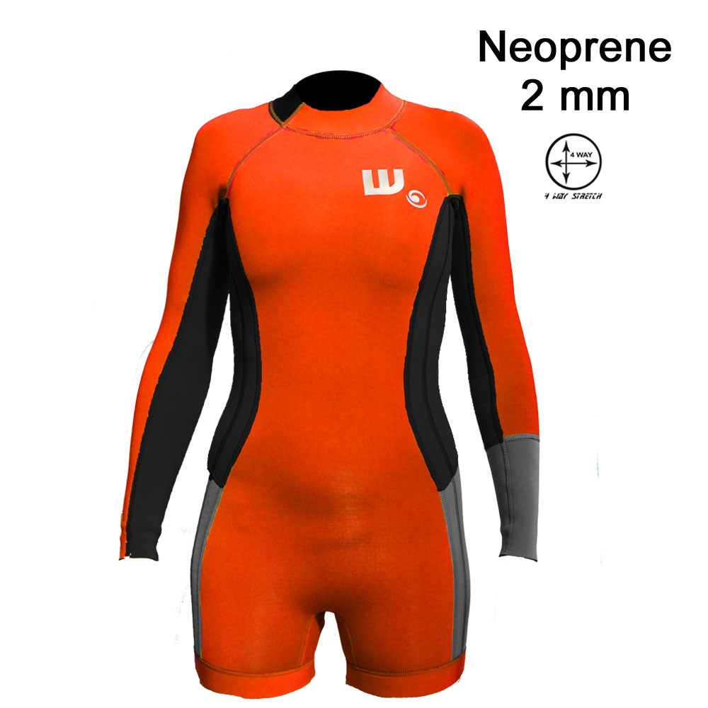 Shorty Néoprene Femme Neon / Black