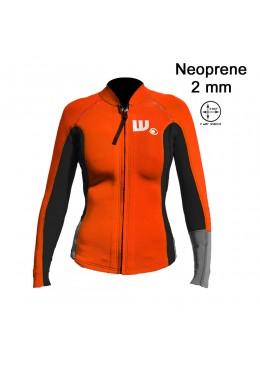 Veste LUNA Néoprene Femme Neon / Black