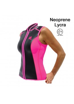 SKIN vest Neoprene 2 MM Woman pink and black for paddler user