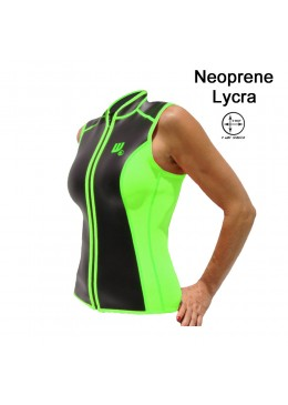 SKIN vest Neoprene 2 MM Woman lime and black for paddler user
