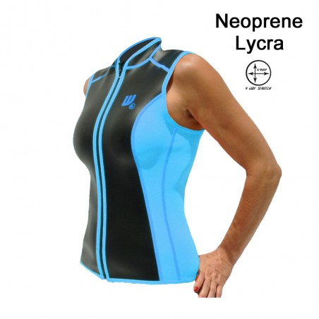 SKIN vest Neoprene 2 MM Woman teal and black for paddler user