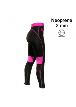 Women Pant Néoprène 2 MM Black / Pink