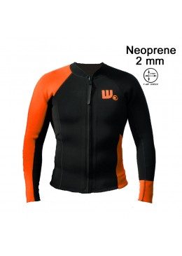 Men Jacket Neoprene  Black / Neon