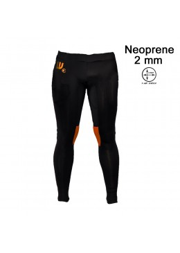 Men neoprene pant black and orange