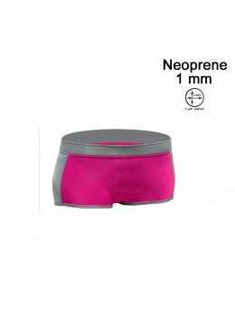 Short HOTTIE 1 MM Neoprene Woman Pink / Grey