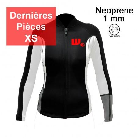 Veste Neoprene Femme Black / White