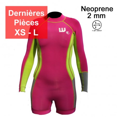 Shortie Neoprene Femme Pink / Lime