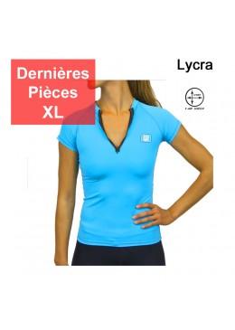 T-shirt lycra surf Femme bleu
