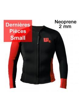 Veste surf Neoprene Homme Black / Red