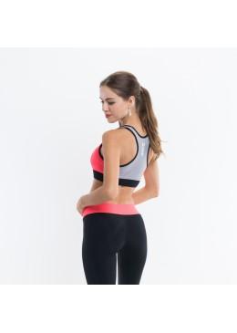Women Bra JAXA - Lycra Orange for fitness and yoga