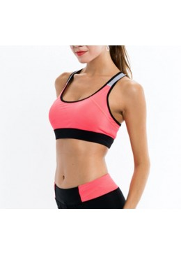 brassiere jaxa orange pour la pratique de fitness ou du yoga