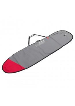Housse gris et rouge pour surf longboard 9'6