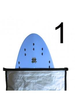 Housse Surf Ajustable de 7' à 8'6 Bleu