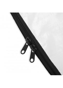 détail zip d'une Housse Longboard 8'6 white pour planche de surf Howzit