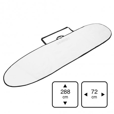 Housse Longboard 9' white pour planche de longboard surf ou mini malibu