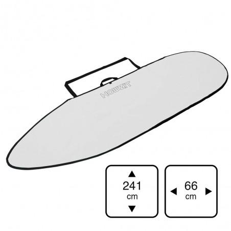 Housse de transport 7'6 white pour planche de surf, funboard, fish ou hybrid shape