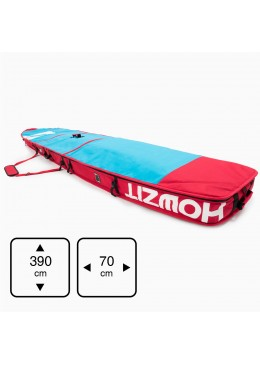 Housse de transport motif bleu et rouge pour stand-up paddle race 12'6