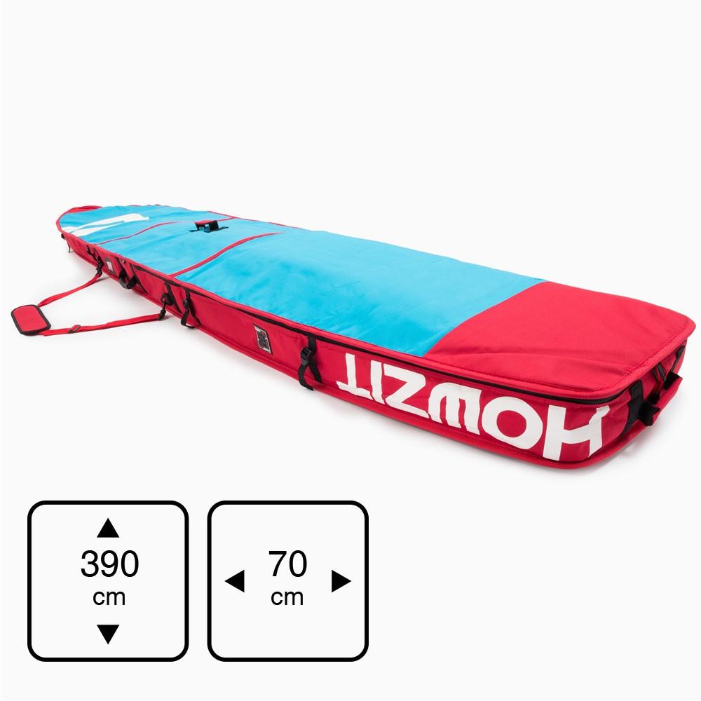 Housse de transport motif bleu et rouge pour stand-up paddle race 12'6