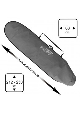 Boardbag Surf Adjustable from 7' to 8'6 Grey