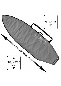Boardbag Surf Adjustable from 6' to 7' Grey