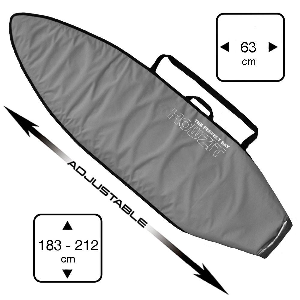 Boardbag Surf Adjustable from 6' to 7' Grey