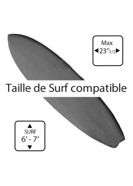 Housse Surf Ajustable de 6' à 7' Grise