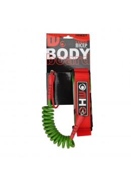 LEASH BODY BOARD VERT/ROUGE S/M