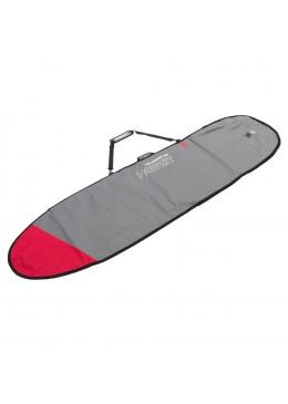 HOUSSE SURF LONGBOARD GRIS/ROUGE 10'