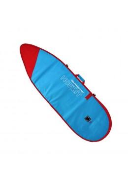 HOUSSE DE SURF SHORTBOARD BLEU ROUGE 6.6'