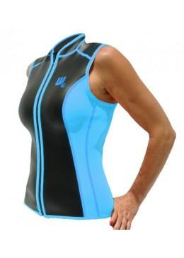 Gilet SKIN Néoprène 2 MM Femme bleu et noire pour la pratique du paddle