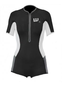 women springsuit neoprene black and white