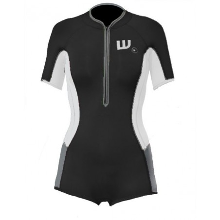 women springsuit neoprene black and white