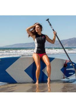 Gilet surf Neoprene Femme Black / White