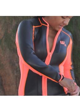 SKIN Jacket Neoprene 2 MM Woman orange and black for paddler user
